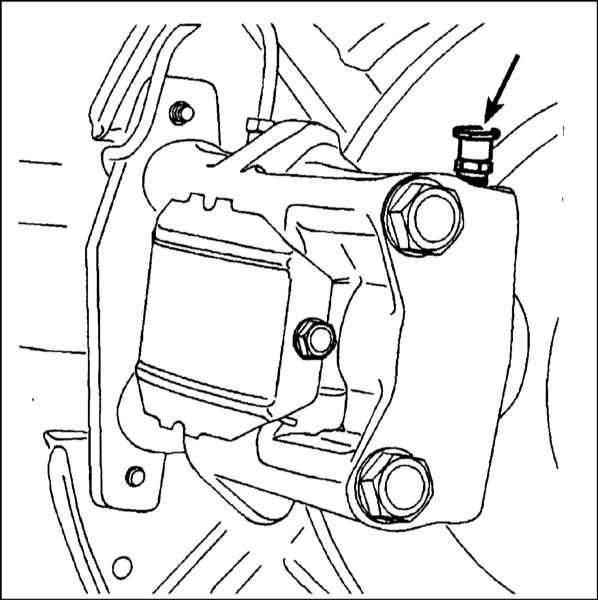 b) Вентиль прокачки суппорта
